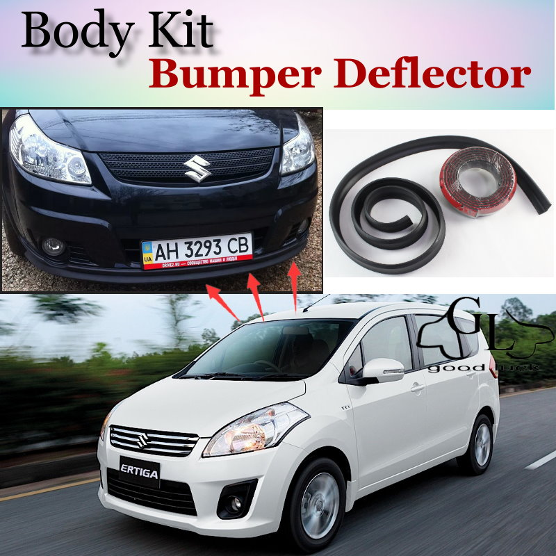 Bumper Lip Deflector Lips For Suzuki Ertiga Front Spoiler Skirt For TopGear Fans to Car View Tuning / Body Kit / Strip<br><br>Aliexpress