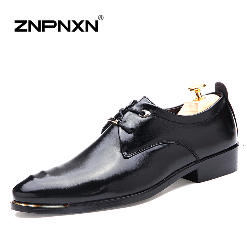 ZNPNXN Luxury Brand Men Shoes 2016 Fashion Soft Leather Shoes Mens Flats Shoes Casual Oxford Shoes For Men Quality Shoes<br><br>Aliexpress