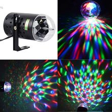 Big Discount!! RGB 3W Crystal Magic Ball Stage Lighting Laser Stage Lighting For Party Disco DJ Bar Bulb Lighting Show(China (Mainland))