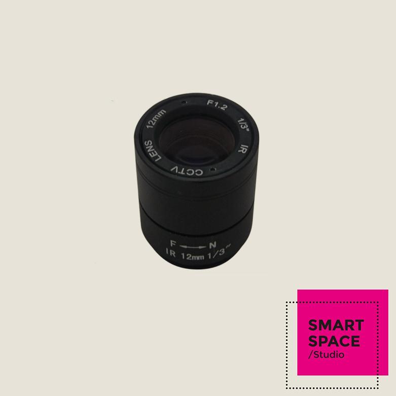 "1/3"" F1.2 CCTV Fixed Iris IR Infrared 12mm Lens CS Mount lense For CCD Camera(China (Mainland))"