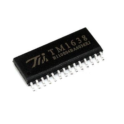 5 шт. TM1638 SOIC-28 8 цифры 7 сегмент СВЕТОДИОДНЫЙ драйвер сканирования клавиатуры SPI max6225aesa t 8 soic