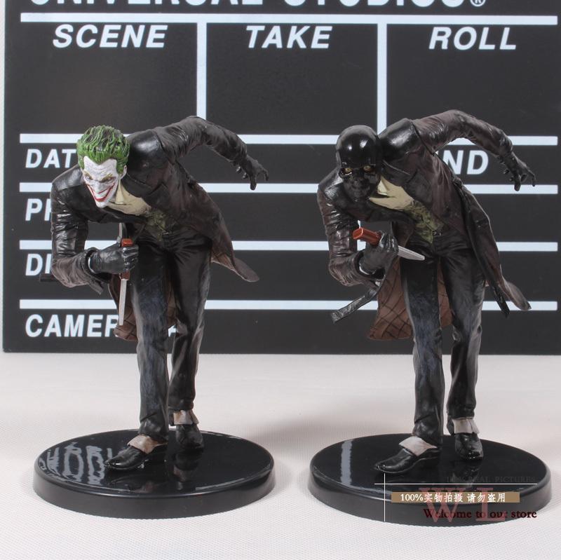 2pcs/lot Free Shipping DC Batman The Joker + Roman Sionis PVC Action Figure Collection Model Toy 6 14cm MVFG145<br><br>Aliexpress