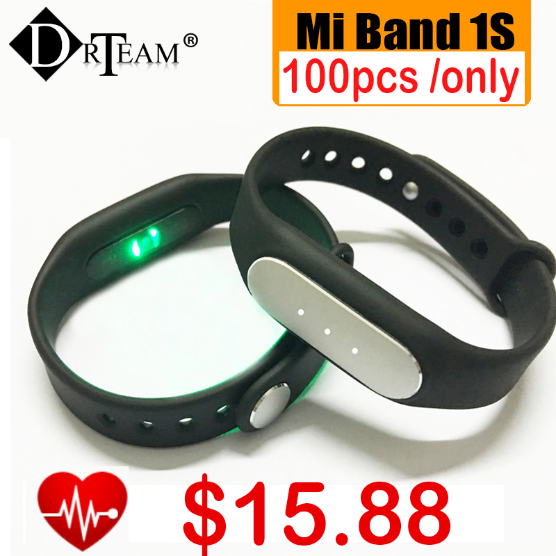 Original Xiaomi Mi Band 1S 1 S Pulse Smart Bracelet MiBand 1S Heart Rate Monitor Smart Wristband For Android 4.4 iOS 7.0 IP67(China (Mainland))