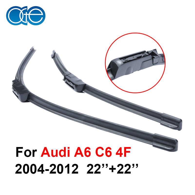 22''+22'' Pair Silicone Wiper Blade For Audi A6 C6 4F 2004-2012 Rubber Windshield Windscreen Best Auto Accessories(China (Mainland))
