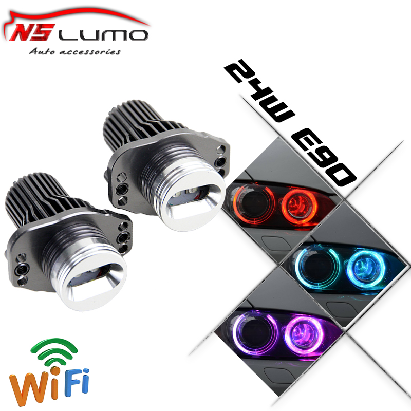 Excellent Quality  Wifi control LED Angel Eyes Halo Light bulb No Error For BMW 3-Series E90 325i 328i E91 05-08 Free shipping<br><br>Aliexpress