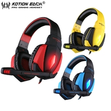EACH G4000 pro gaming headphone headset gaming Surround Sound Noise Cancelling with usb bass Mic for computer fone PC gamer
