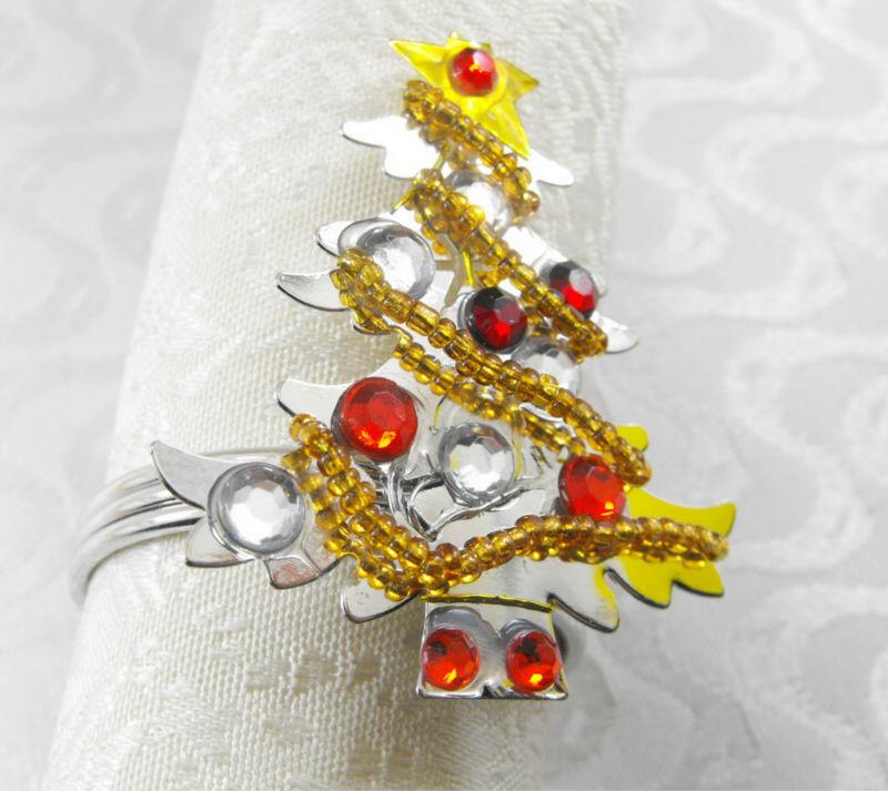Christmas Tree Napkin Ring Holidaynapkin Holder