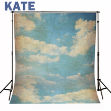 Photography Backdrop Candy Children Blue Sky  Cloud Background Vinyl Backdrops For Baby Photography(China (Mainland))
