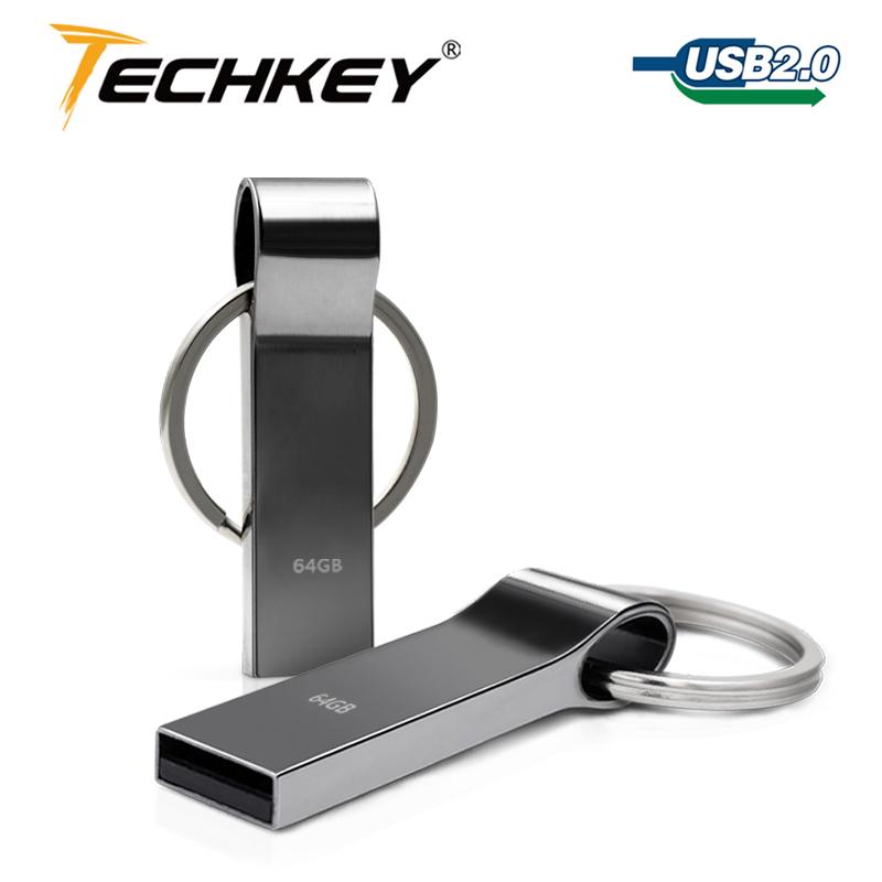 hot sale new usb flash drive 64GB 32GB 16GB 8GB 4GB pen drive pendrive waterproof metal silver u disk memory disk usb 2.0(China (Mainland))