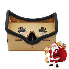 Virtual 3D Reality Glasses Google Cardboard DIY Magnet Viewing VR Box Movies Glasses Mobile Phone for iPhone 5 6 7 SmartPhones(China (Mainland))