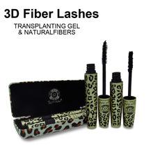 1Set=2Pcs Wild Leopard 3d Mascara rimel FIBER LASHES makeup set For Eyelashes Love Alpha waterproof double mascara maquiagem