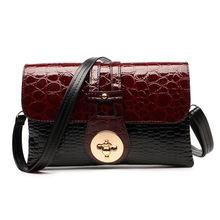 New 2016 Patent Leather Crocodile Women Messenger Bags Ladies Crossbody Shoulder Bags For Women Casual Bag Ladies Sac A Main
