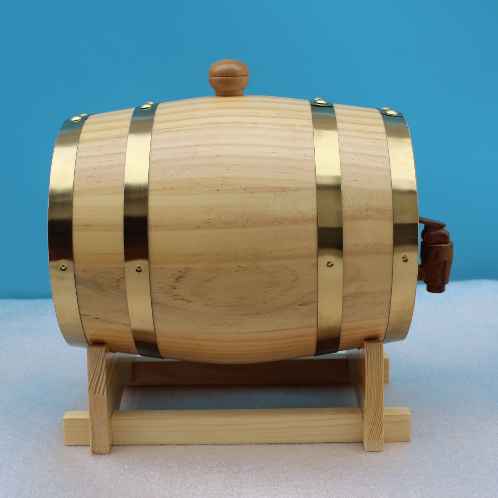 Hot sale 1 5l wooden pine wine barrel wooden wine box home for Wooden wine box garden