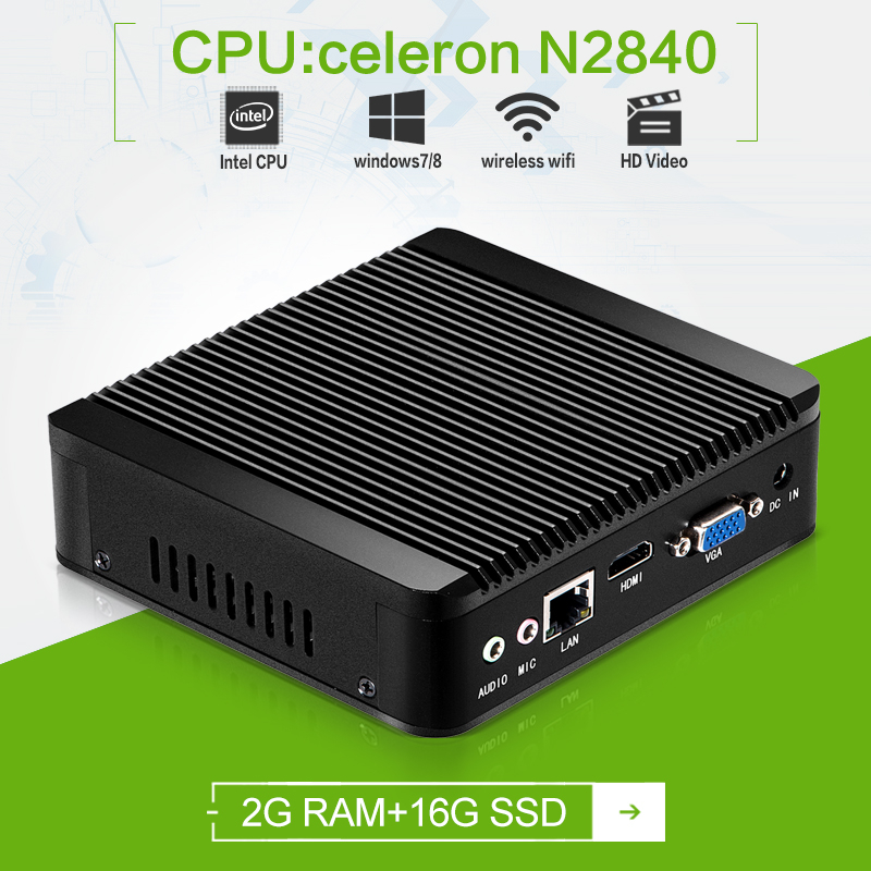 On sale x30 N2840 xcy mini pc computer 2.16GHz 2g ram 16g ssd support hdtv and commercial htpc tv box living room computer pc(China (Mainland))