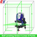 KaiTian Rotary Laser Level Green 5 Lines 6 Points Cross Level Leveling with Tilt Slash Function