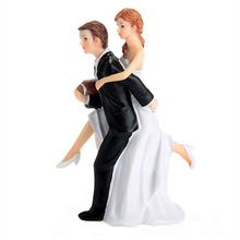 Romantic Bride and Groom Wedding Couple Figurine Football Athletic Romance Action Figure Decoration Model Toys about 14cm(China (Mainland))
