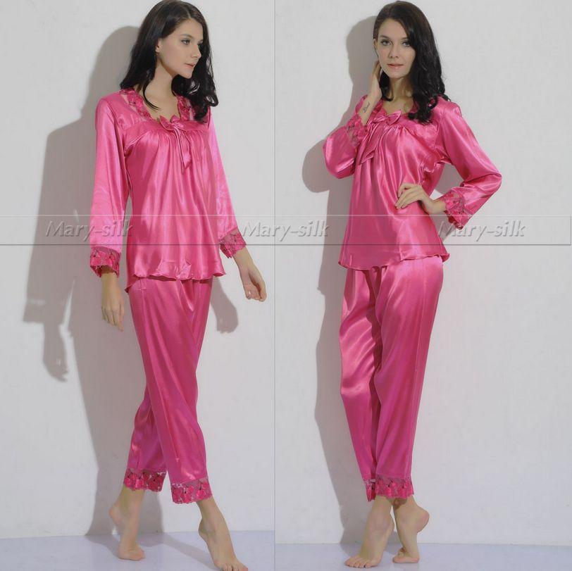 filles pyjama de soie promotion achetez des filles pyjama. Black Bedroom Furniture Sets. Home Design Ideas