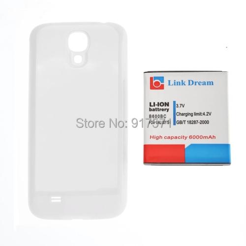 Гаджет  6000mAh Replacement Battery & White Cover Back Door for Samsung Galaxy S4 \ i9500 \ i545 \ i337 \ L720 \ M919 \ R970 None Электротехническое оборудование и материалы