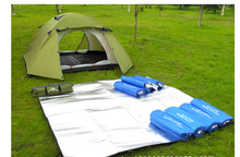 Double-sided aluminum outdoor moisture-proof pads, foreshadowing, tent mats, picnic mats 200*200(China (Mainland))