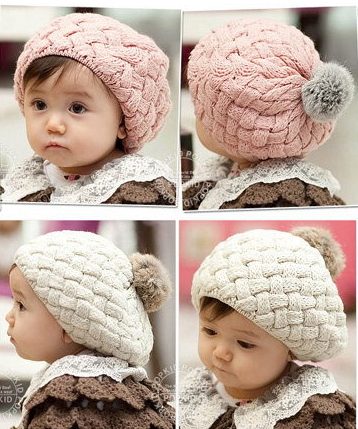 Lowest Price!New Kid Hat Baby Handmade Knit Crochet Baby Beret Girl Cap Baby Hat For Child Cute Warm Kid Beanie Free Shipping(China (Mainland))