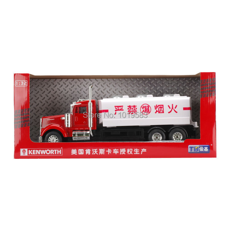 JOYCITY 1/32 Scale Truck Model Toys USA Kenworth Oil Tank Truck Diecast Metal Car Model Toy New In Box For Gift/Kids(China (Mainland))