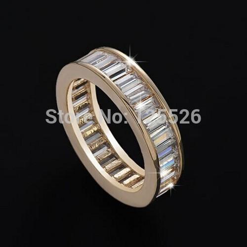 Victoria Wieck Brand Jewellery Princess Cut Simulated diamond Gemstones 10KT Gold Filled Ring Sz 5-10(China (Mainland))