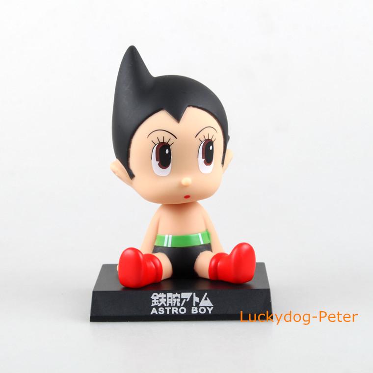 Free Shipping Crayon Shin-chan & Astro Boy Action Figure Astro Boy Head Knocker Doll PVC ACGN figure Toys Brinquedos Anime 120MM(China (Mainland))