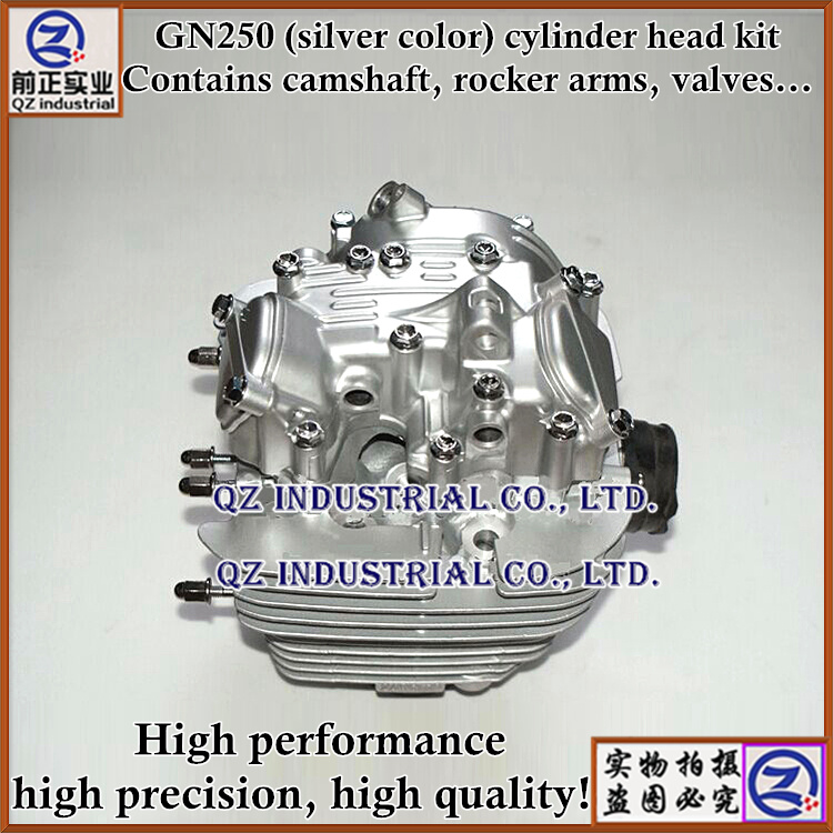 New and top quality mechanical type for SUZUKI 250cc motorcycle engine parts GN250 cylinder head kit(China (Mainland))