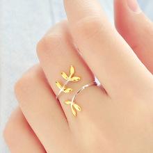 Новое Прибытие Стерлингового Серебра 925 Листья Открытые Кольца Для Женщин Гипоаллергенное Стерлингового Серебра Леди Подарок(China (Mainland))