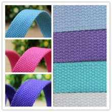 "20MM polyester cotton webbing 5yards/lots 3/4"" ribbon for dog collars belts shoes bags 2cm garment sewing accessories webbing(China (Mainland))"
