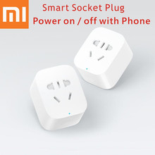 Buy Original Xiaomi Smart Socket Plug Bacic WiFi Wireless Remote EU US AU Socket Adaptor Power phone for $12.49 in AliExpress store
