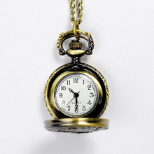 Fashion Classical Bronze Tone Pocket Watch Deer Pendant Chain Necklace Watches Gift LXH(China (Mainland))