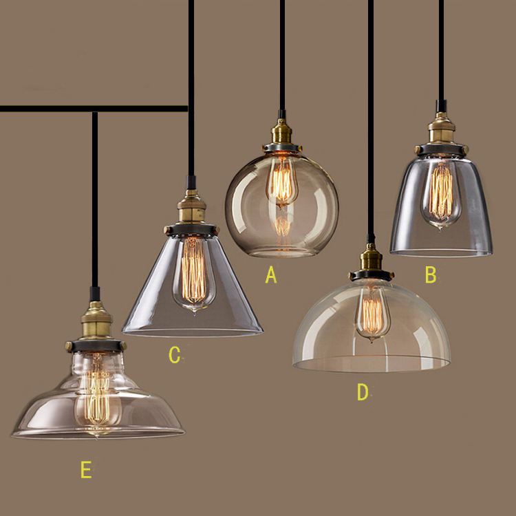 Aliexpress.com: Acheter Nordic Vintage GlassPendant lampe ...