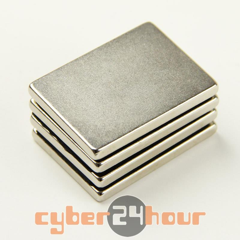 Гаджет  4PCS N35 Super strong Block Cuboid Magnets Rare Earth Neodymium 40 x 30 x 4 mm  None Строительство и Недвижимость