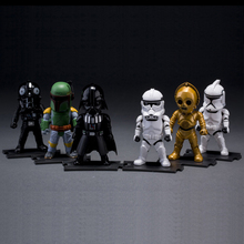 6 Styles No Light Darth Vader Aliens Star Wars Action Figure Anime PVC Movable Black White Knight Model Brinquedos Kids Gift(China (Mainland))