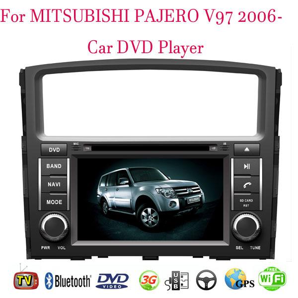 Car DVD Player Fit MITSUBISHI PAJERO V97 2006- 2011 2012 2013 2014 Car DVD Player GPS TV 3G Radio WiFi Bluetooth Wheel contol(China (Mainland))