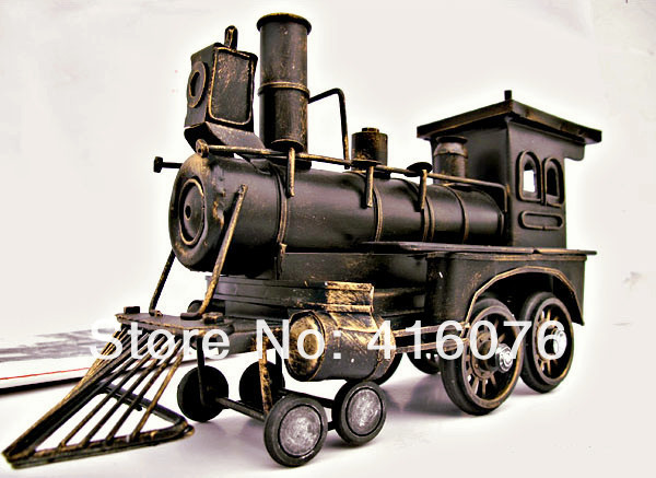 Vintage Style Locomotive Model Metal Train Model Iron Steam Train Toy Handcraft Treasure Memory of old times Decoration M1113(China (Mainland))