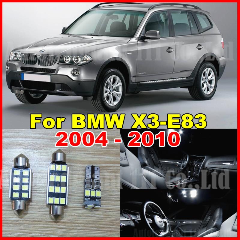 13x Pure White Error Free LED Car Light BMW X3 E83 Interior light Kit 2004 2005 2006 2007 2008 2009 2010 Canbus - EcoFri Led Factory store