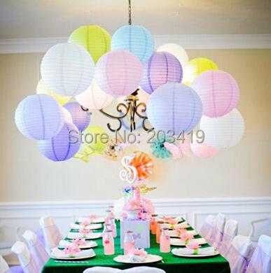 8 inch 20cm Round Chinese Paper Lantern for Birthday Wedding Party Decor gift craft DIY whcn+(China (Mainland))