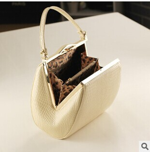 2014 New women fashion elegant crocodile grain handbag one shoulder messenger bags evening bag PU leather totes RJ587