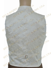 Halloween Costume Floral Double Breasted Victorian Steampunk Waistcoat