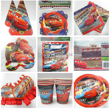 Free shipping,General mobilization mack TRUCK, car birthday,8 kids,cup+plate+blowouts+bag+hat+mask+napkin+table cover+banner