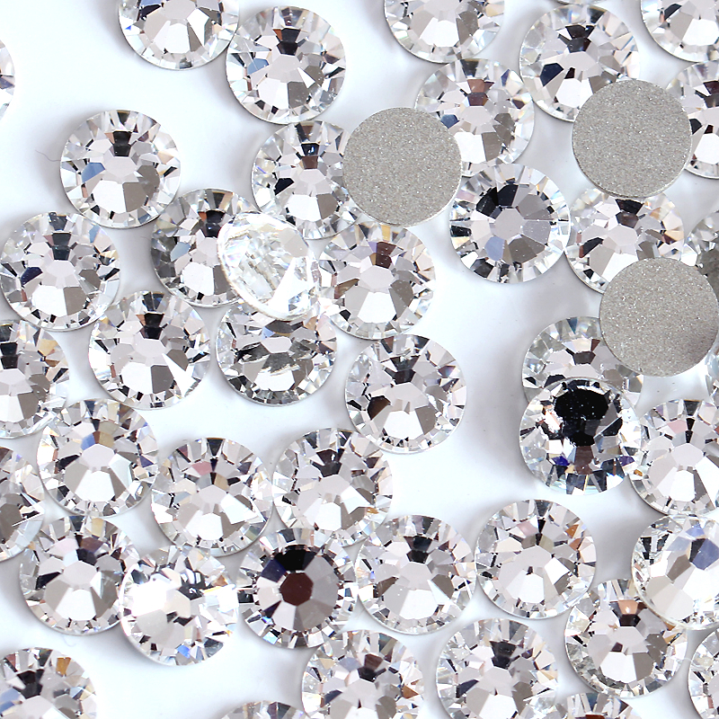 Small Size Nail Art Rhinestone Crystal Clear Color SS3 (1.3-1.5mm) Flatback Non Hot Fix Rhinestone Glue On For Nails Y0100(China (Mainland))