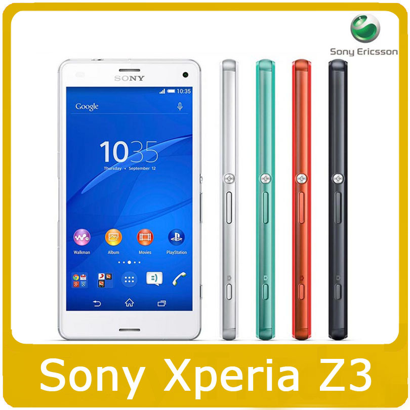 "Original Sony Xperia Z3 D6603 3G&4G Quad-Core 5.2""TouchScreen 20.7MP Camera Cell Phone Refurbished(China (Mainland))"