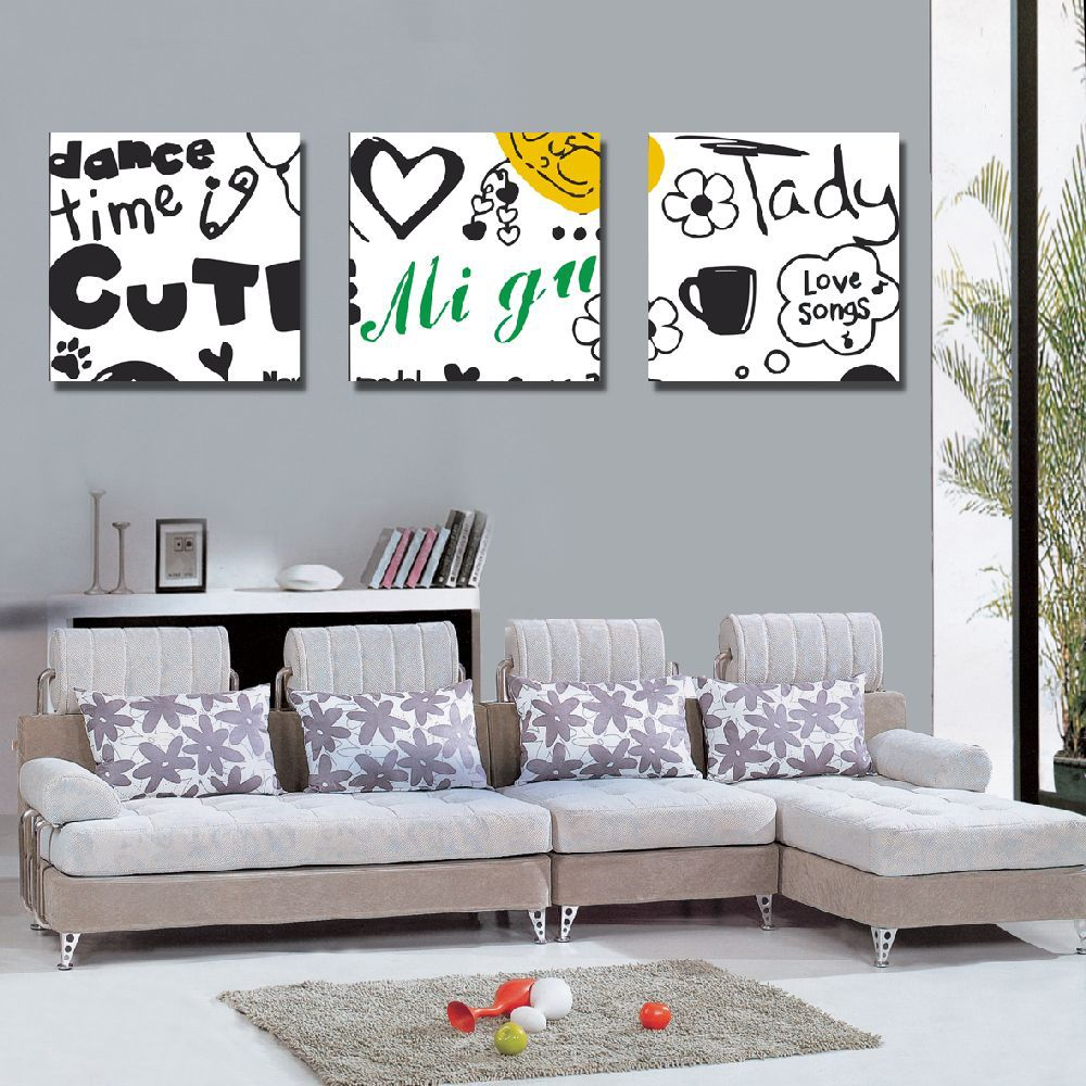 Modern Canvas Art English Words Printing Art For Living Room