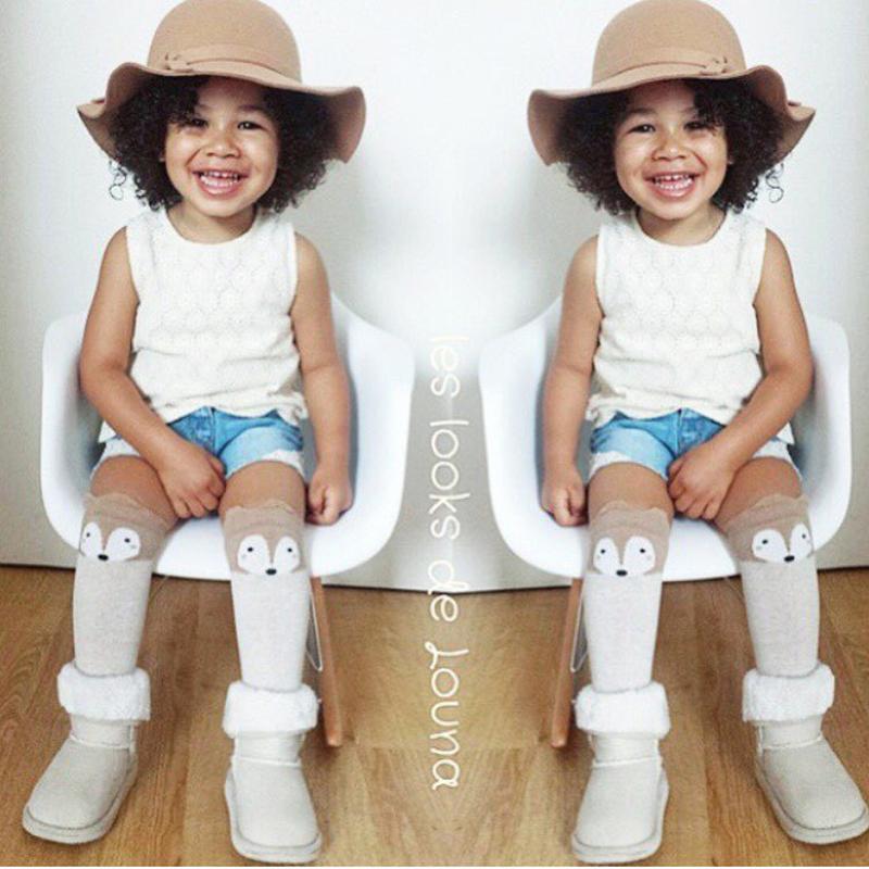 3 Colors Baby Leg Warmers Kids Fox Socks Baby Knee Pads Leggings Cartoon Baby Tights Knee Socks For Kids Infantil Leg Warmers(China (Mainland))