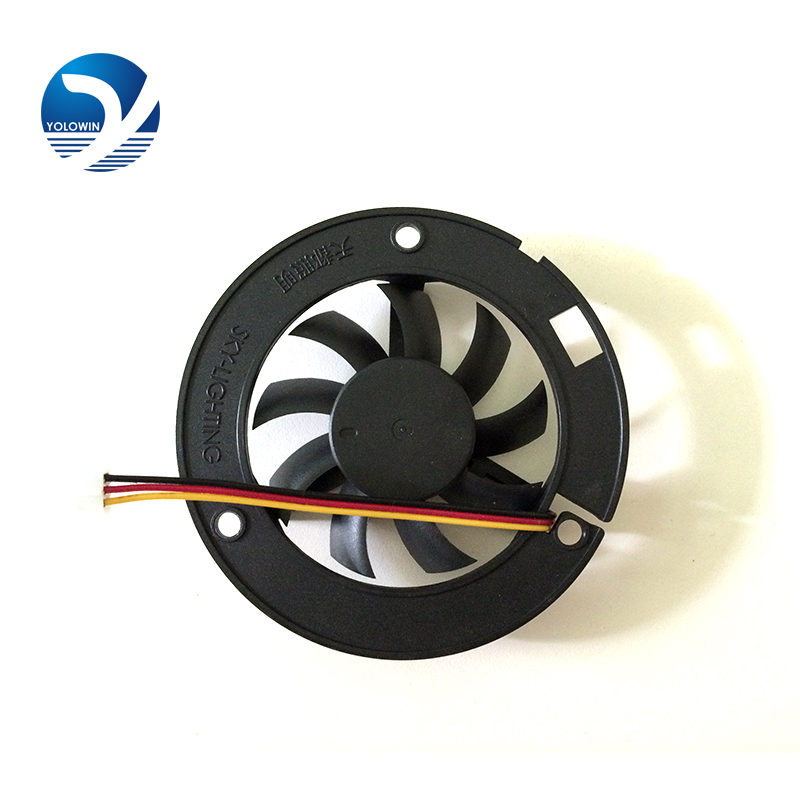 LED lamp fan Computer Components radiator fan 6015 big frame 60*60*15 round black box fan YL-0044(China (Mainland))