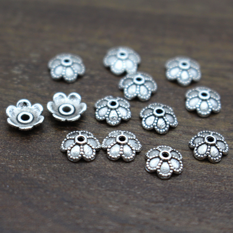 100pcs/lot Silver Plated Flower Tibetan Bead Caps 6mm Filigree Jewelry Findings Connector Beads Cap Wholesale Parts Jewelrys Diy<br><br>Aliexpress