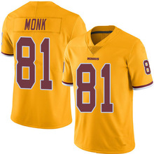 Men's #81 Art Monk Elite Gold Rush Football Jersey 100% Stitched(China (Mainland))