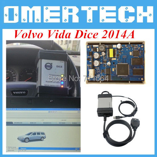 A+ Quality 2014D Volvo Vida Dice Diagnostic Tool Volvo Vida Dice Full Chips EWD Sodtware As Free Gift Free Shipping(China (Mainland))
